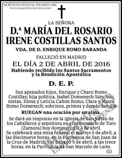 María del Rosario Irene Costillas Santos